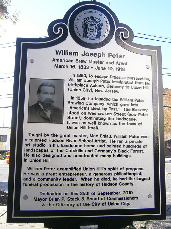 William_Peter_historical_marker-Hudson_Ave_&_Peter_Street-Union_City