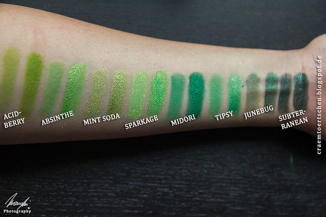 grün swatches