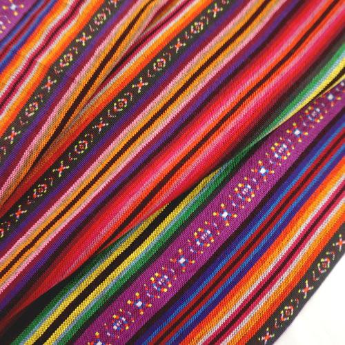 彩色細條紋 原住民 雲南麗江民族 裝飾服裝布料 CE890057