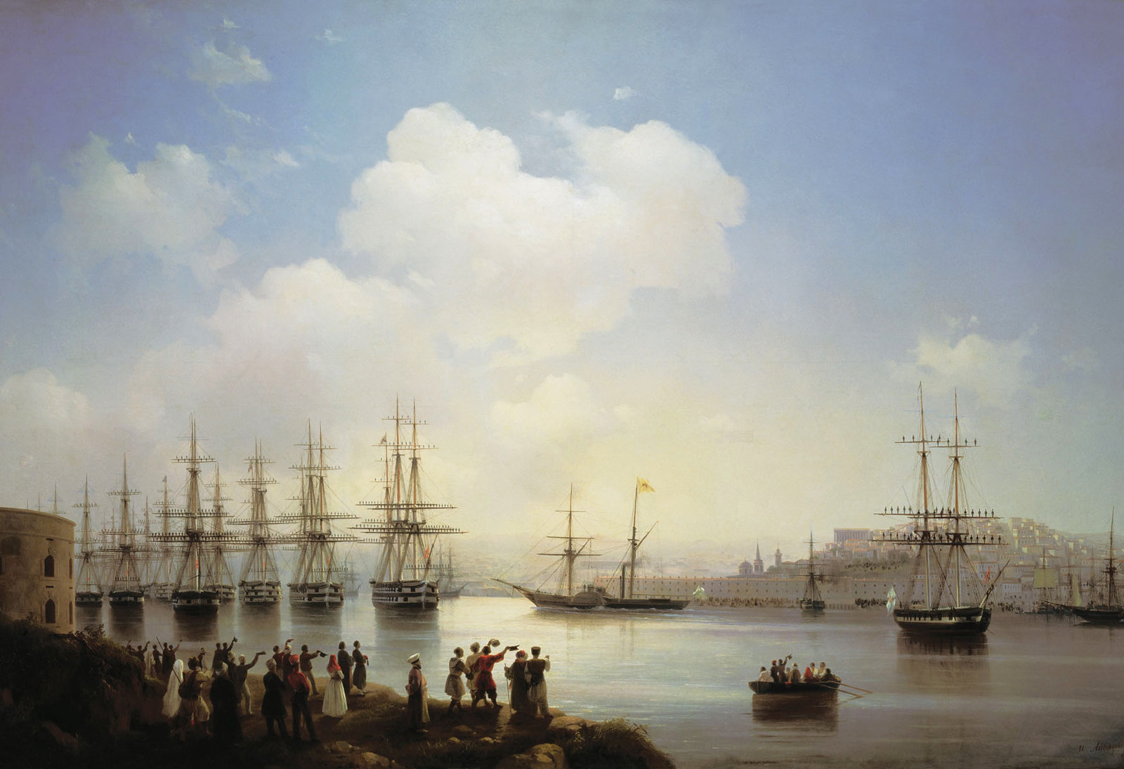 Russian squadron on the raid of Sevastopol by Ivan Aivazovsky, 1846