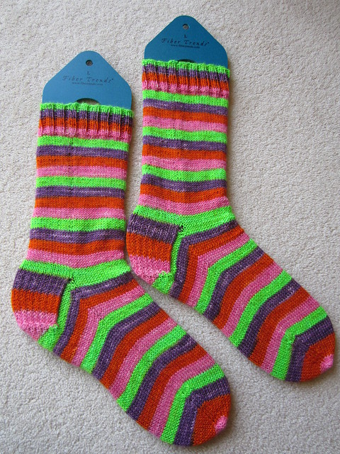 magic loop continental knit socks (2)