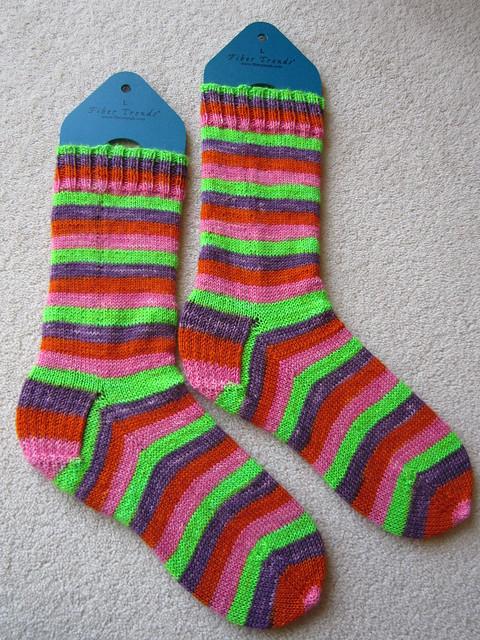 magic loop continental knit socks (2)