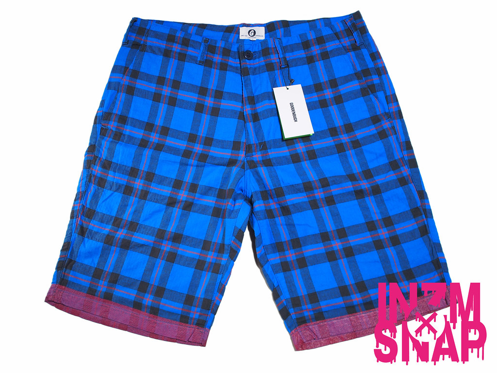 GOODENOUGH | EDGE LINE CHECK SHORTS