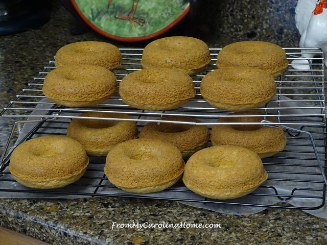 Lemon Vanilla Donuts with Lemon Glaze at From My Carolina Home