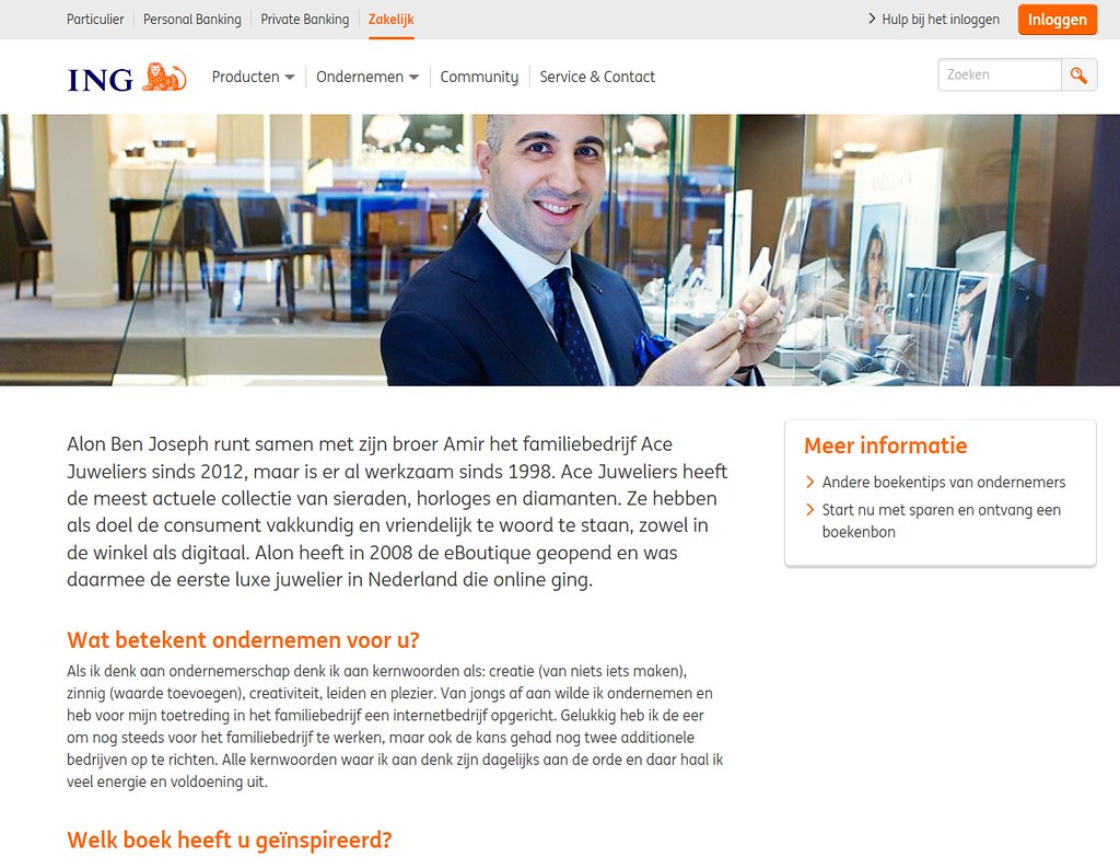 Alon Ben Joseph's book review of Blue Ocean Strategy on www.ING.nl