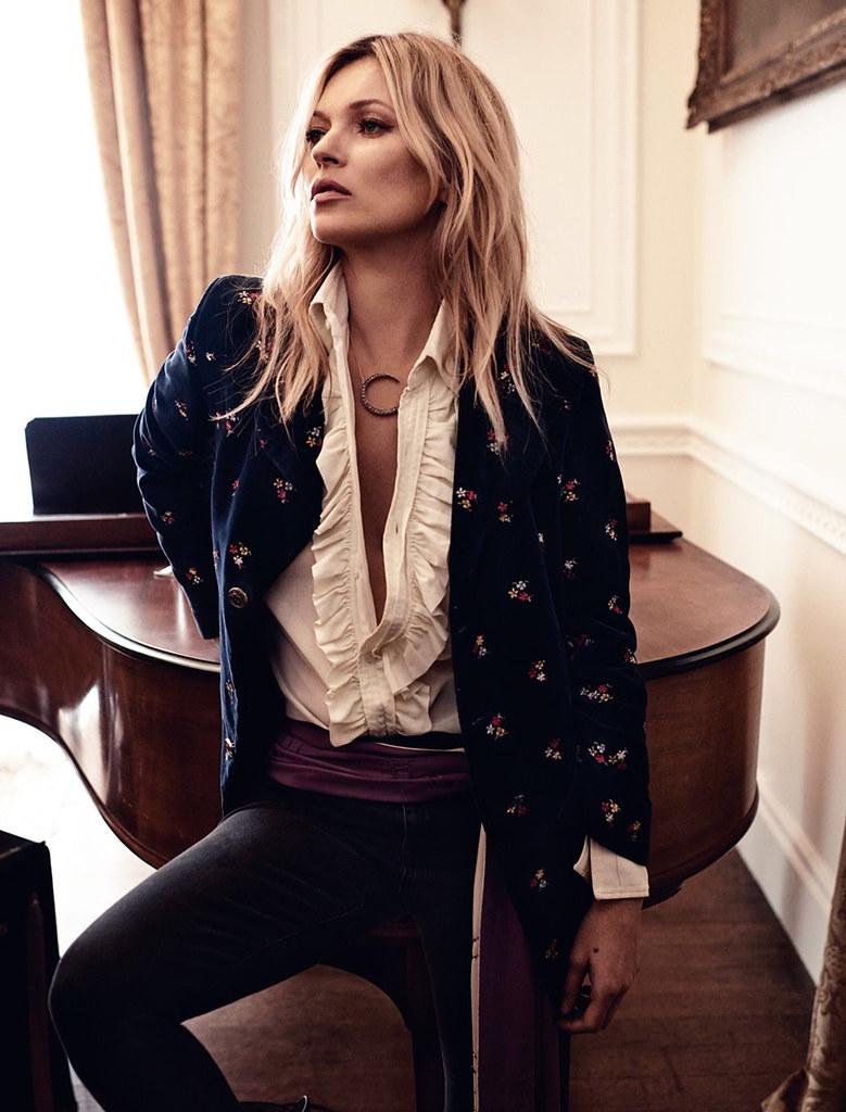Кейт Мосс — Фотосессия для «Vogue» UK 2016 – 7