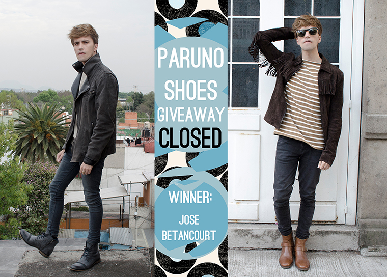 Paruno shoes giveaway main with winner