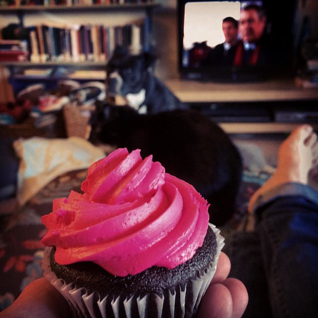 Reward Time #netflixandchill #cupcakes