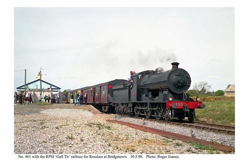 Bridgetown (Co. Wexford). No. 461 & railtour for Rosslare. 10.5.98