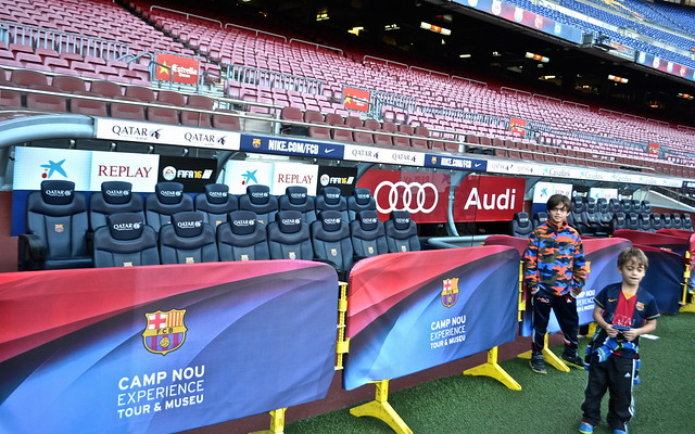 Camp Nou Barcelona - player seats