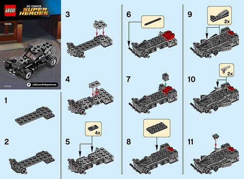 lego dc comics super heroes the batmobile 30446 polybag building instructions the brick fan. Black Bedroom Furniture Sets. Home Design Ideas