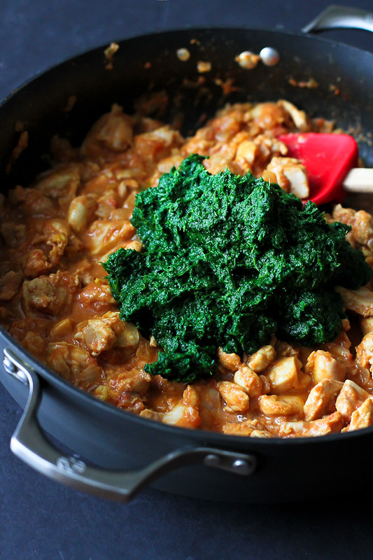 chicken saag calories