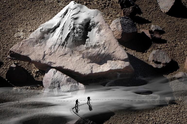 Púšť a Walliské Alpy