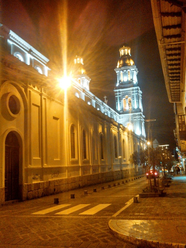 Night View Of Church in Cuenca