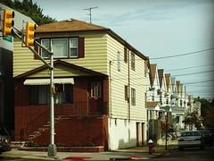 Neighborhood in Bayonne, NJ, 2015. #neighborhood #bayonne #bayonnenj #hammontree #newjersey #jersey #nyc #newyork #newyorkcity #jerseycity #statenisland #houses #stoplight #sidestreet #suburban #art #artsy #artist #hammontree #bostonartist