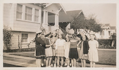 Group of children wearing paper hats 1