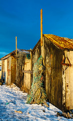Old fishermen sheds