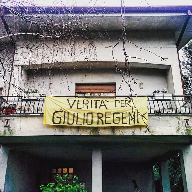 Verità per Giulio Regeni: uno striscione da mettere ovunque