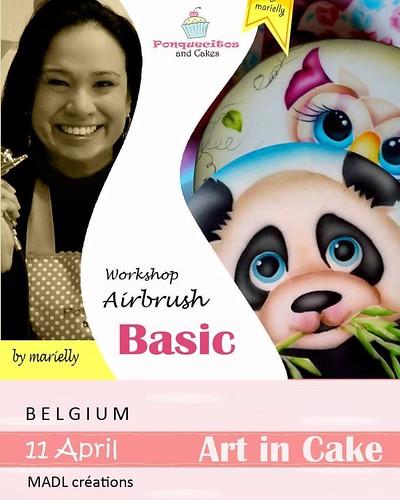 New dates for Belgium <3 Nueva fecha para Bélgica :)  Basic Art in Cake: https://www.facebook.com/events/475529375964224/ #cakedecorating #cakedesign #ponquecitosandcakes #marielly #airbrushing #belgium #workshop