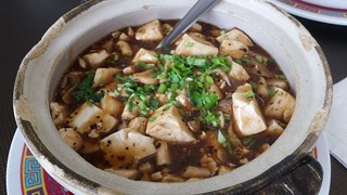 Tofu and Mushroom Hot Pot with Black Pepper Sauce