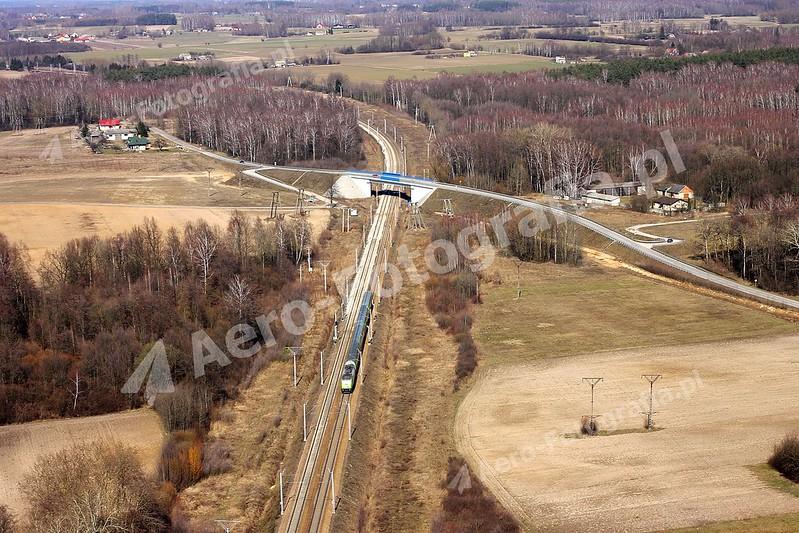 Pociąg w kierunku Ciechanowa.