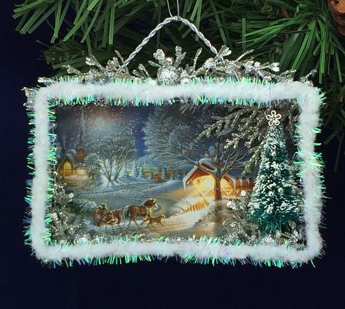 Christmas card shadow box