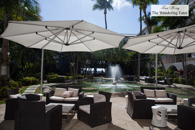 Outdoor seating at The Marriott