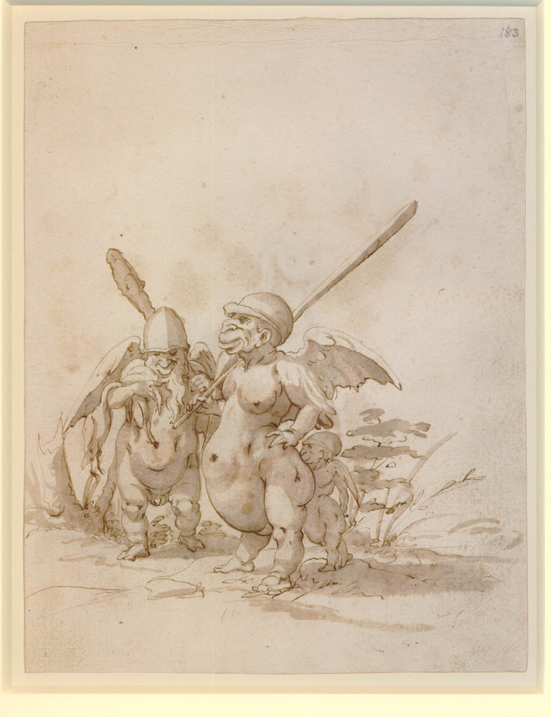 Arent van Bolten - Monster 183, from collection of 425 drawings, 1588-1633