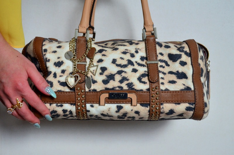 leopard bag guess