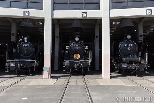 Umekoji Steam Locomotive Shed (17) C55-1, C58-1, D50-140