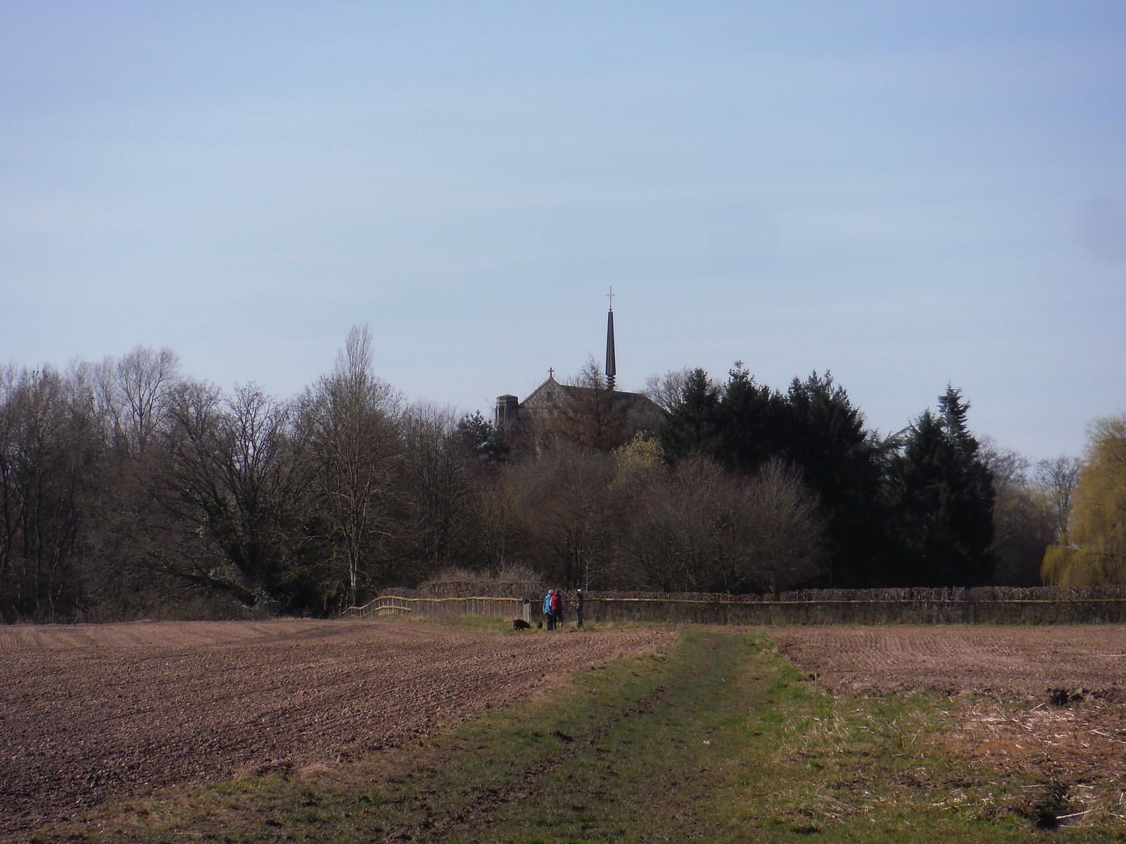 Top of Douai Abbey, from walk route SWC Walk 260 Aldermaston to Woolhampton [Midgham Station] (via Frilsham)