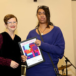 Deputy Lord Mayor Irene Doutney presents the Culturally Aware Award to Lana Kavakura