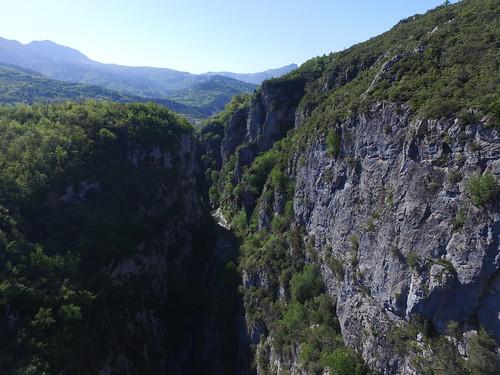 Szalmafalvai kanyon a levegőből
