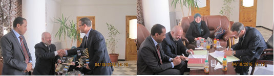 Dr. Fathi Malkawi signing agreement with Muaskar University in Algeria
