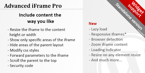 Advanced iFrame Pro v7.5