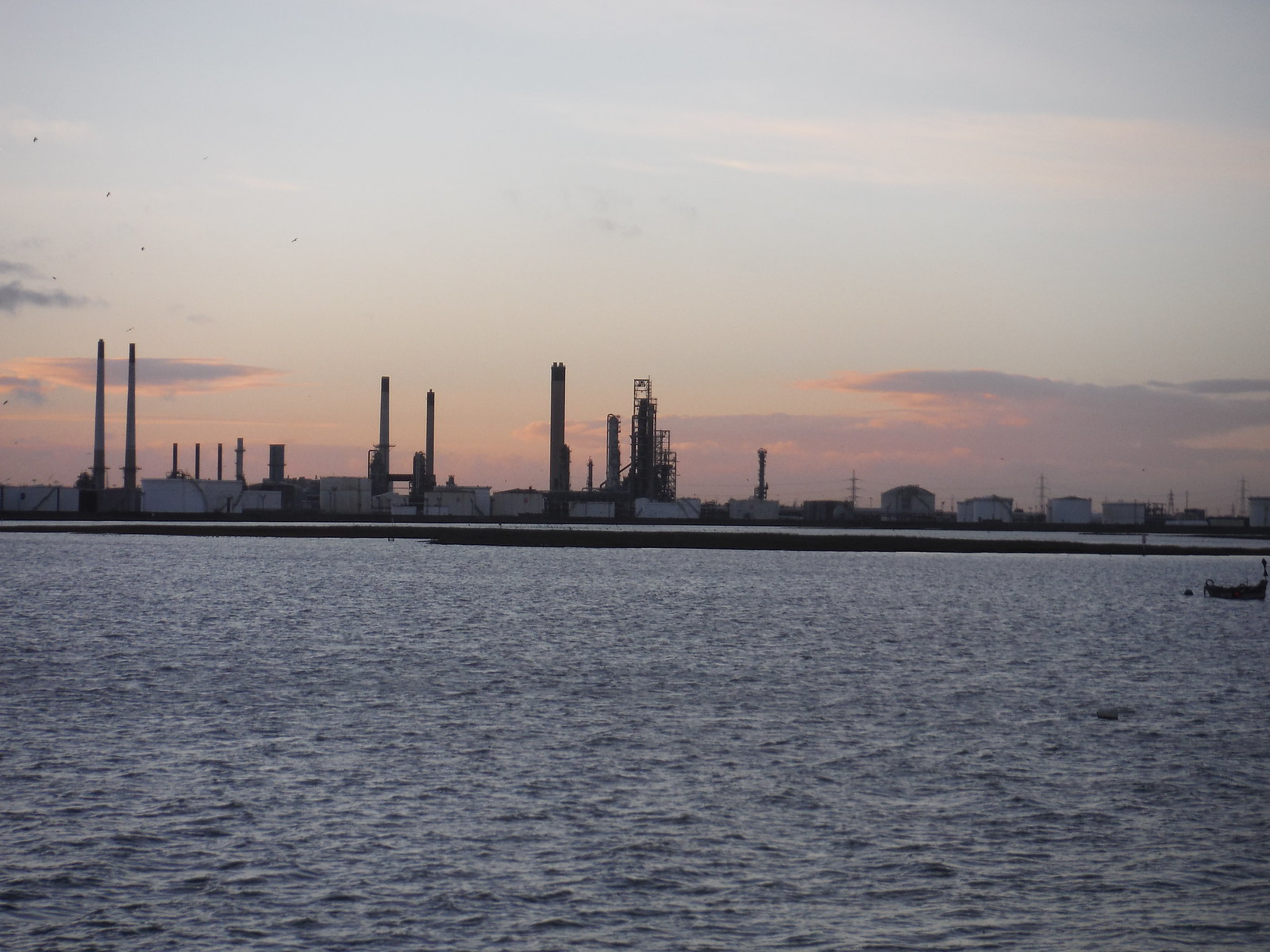 Coryton Oil Refinery, from Canvey Island SWC Walk 258 Benfleet Circular (via Canvey Island)