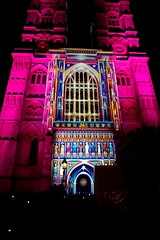 'The Light of the Spirit' display. Part of Lumiere London