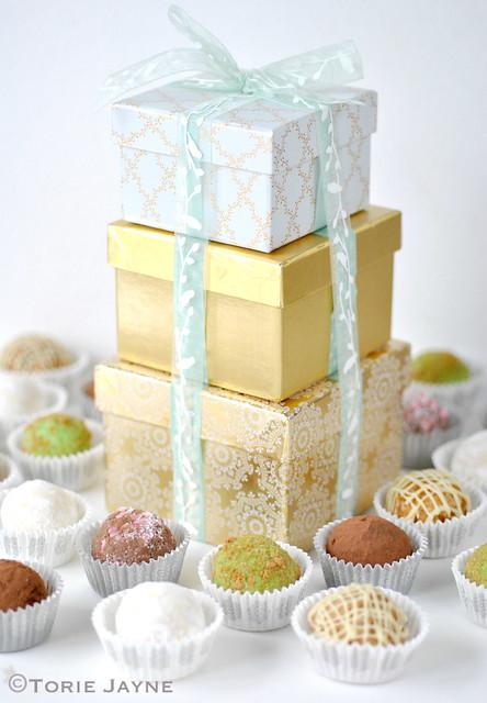 Packaged up handmade truffles