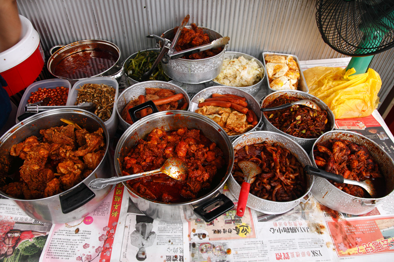 Chinese nasi lemak Side Dishes