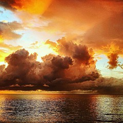 #sunset #sky #clouds #sea #nature #beach #sun #light