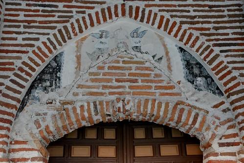 Aldeaseca de la Frontera. Iglesia de la Asunción. Portada. Detalle