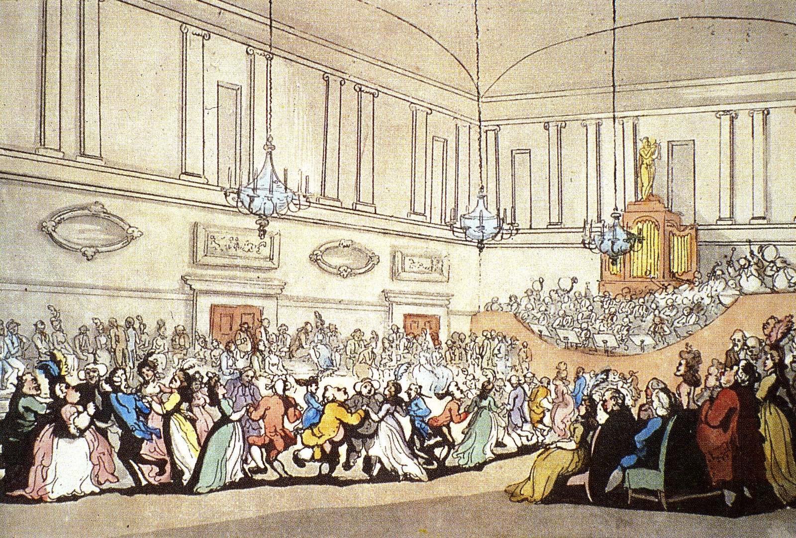 18th century illustration of the The Assembly Rooms