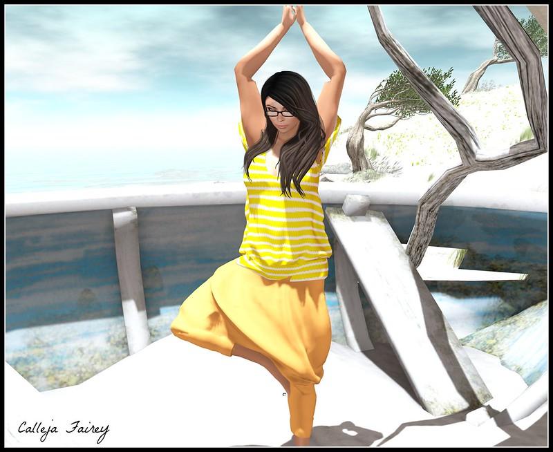 A Little Beach Yoga