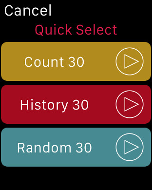 ColatPlayer2 Apple Watch Quick Select Random 30
