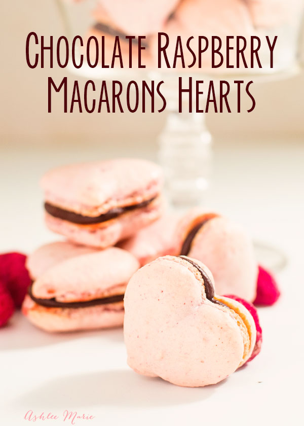 tips and tricks for making these sweet raspberry chocolate macaron heart shaped cookies