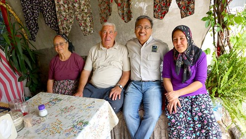 Capt with family who cooks traditional Gozleme
