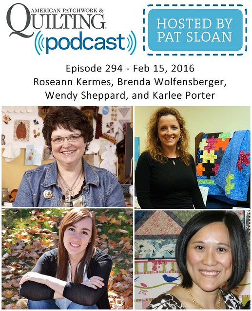 2 American Patchwork Quilting Pocast episode 294 Feb 15 2016