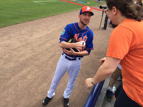 Jerry Blevins signing my ball
