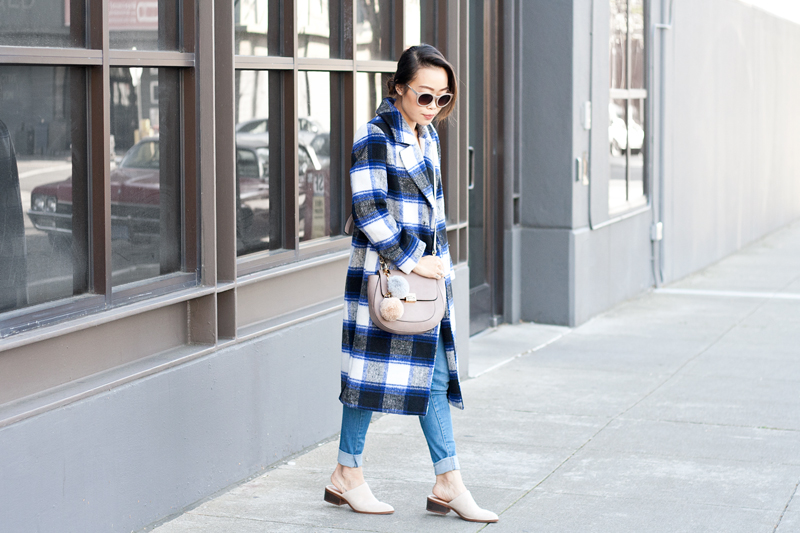 01plaid-checkers-coat-denim-mules-pompoms-sf-style-fashion