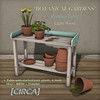 "@ The Wash ~ [CIRCA] - ""Botanical Gardens"" - Potting Table"